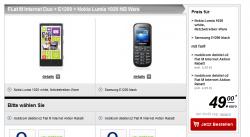 Nokia Lumia 1020 + Samsung E1200 für effektiv 286,60€ dank 2 Handyverträgen@ Handytick