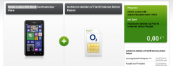 O2 Flat M + Nokia Lumia 625 black für 4,95€ mtl. (inkl. 25€ App Gutschein) @ Modeo
