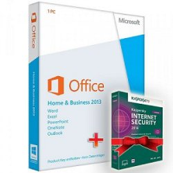 Office 2013 Home and Business + Kaspersky Security 2014 (- 50% ) – 99,90 EUR @softexperten.de