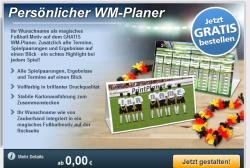 Persönlicher WM-Planer Gratis bestellen @Printplanet