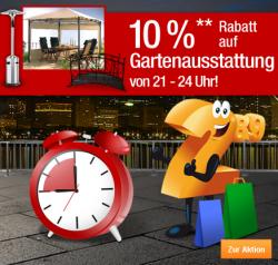Plus.de, heute ab 21:00 Uhr, 10% Rabatt auf Gartenausstattung