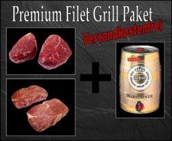 Premium Filet Grillpaket + Gratis Warsteiner Fass für 59,99€ zzgl. Versandkosten@