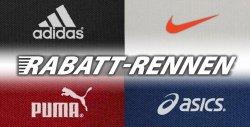 Rabatt-Rennen mit bis zu 85% Rabatt auf Adidas, Asics, Nike und Puma @Plutosport