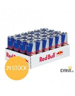 RED BULL Energy Drink 24er Tray 24×0,25l 26,90€ inkl Pfand + Versandkosten statt 31,90€ @idrinx