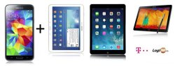 Samsung Galaxy S5 + Tablet (iPad, Galaxy Tab/Note, …) ab 1€ mit Telekom Allnet-Flat + SMS-Flat + Surf-Flat für 49,90 im Monat @logitel