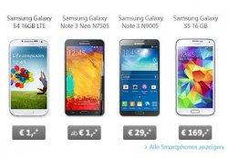 Samsung Spezial Live Deal – Allnet Flat + z.B. Samsung Galaxy Note 3 Neo für nur 29,99 Euro mtl. bei Sparhandy