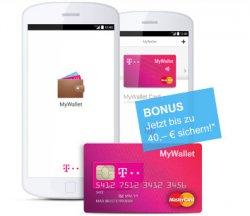 Smart online shoppen mit 40€ gratis Startguthaben bei MyWallet @t-mobile.de