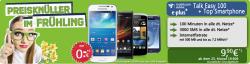 Smartphone ohne Zuzahlung (z.B. Galaxy S3, S4 Mini, Xperia L,HTC Desire 500) und Talk Easy 100 Tarif für 9,90 Euro/Monat    @HandyLiga