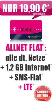 Sonder-Aktion Telekom Allnet Flat 1,2 GB für Effektiv 19,90€ mtl. @Handybude.de