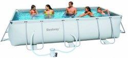 Stahlrahmen-Swimming Pool-Set (404x201x100cm) für 249,94€ @obi