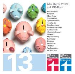 test und Finanztest Archiv CD-Rom 2013 (alle Hefte aus 2013 auf CD-Rom) für 4,90 € statt 17 € (neu) oder 9,99 € (gebraucht)
