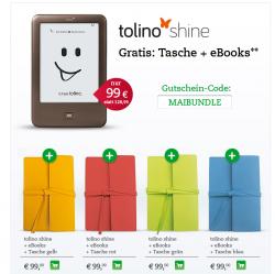 tolino shine + Tasche + gratis eBooks für 99€ inkl. Versand @Thalia