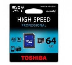 TOSHIBA 64GB MICRO SDXC inkl Adapter und versandkostenfrei für 25,10 € statt 33,30€ bei Meinpaket