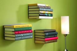 Unsichtbare Bücherregale im 3er-, 6er- oder 9er-Set ab 5,33 €/Stück (idealo.de Vergleichspreis ab 10 €/Stück) @GROUPON