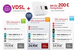 Vodafone DSL Zuhause S für 14€ mtl., M für 18€ mtl. oder L für 25€ mtl. @Kotel.de
