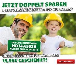 Zum Vatertag 15,95 €uro geschenkt von Hagebaumarkt.de