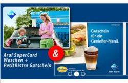 15€ Aral Waschkarte + Petit Bistro Gutschein (5€) für 13,90€ statt 20€ bei DailyDeal