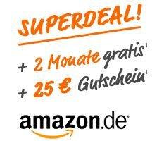 2 Monate Simyo All-Net-Flat  für nur 1,00€ (statt 69,70€) + 25€ Amazon Gutschein – monatlich kündbar! @simyo