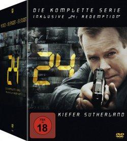 24 – Die komplette Serie inklusive 24: Redemption auf 49 DVDs für 59,00 € (75,63 € Idealo) @Saturn