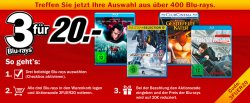 3 Blu-rays für 20 € @MediaMarkt mit Gutscheincode