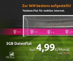 3GB Datenflat – Telekom Netz (Vertrag bei Mobilcom-Debitel) für 4,99€ mtl. @crash-tarife