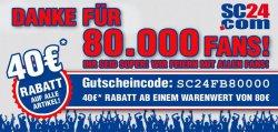 40€ Gutschein bei 80€ MBW @SC24.com
