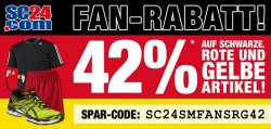 42% Rabatt auf schwarze, rote und gelbe Artikel @SC24.com!