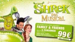 5 Tickets (min. 2 Kinder) für Shreck Musical Düsseldorf nur 99€ (gespart je Rang bis 50%) @mehr.de