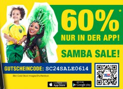 60% auf alle Artikel in der @SC24.com App plus 2,99€ Versand!
