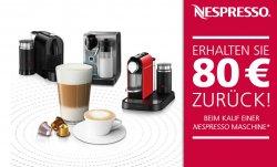 80€ Cashback ! – Beim Kauf einer Nespresso Maschine – Nur heute! @SATURN und jeder andere Shop