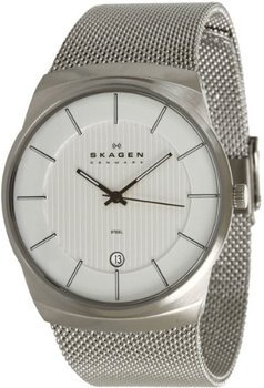 @amazon.co.uk bietet Skagen Mens Quartz Watch with Grey Dial Analogue Display and Silver Stainless Steel Strap 780XLSS für ca.58€ incl. Versand