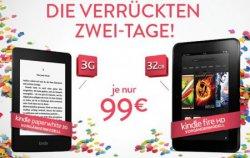 [Amazon] Die verrückten Zwei-Tage (2 Kindle für 2 Tage zu 2 verrückten Preisen), z.B. das Kindle Paperwhite 3G Vorgängermodell für 99€