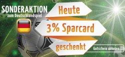 Nur heute am 21. Juni 2014: 3% Sparcard geschenkt + 3€ WM-Gutschein @ berlindaversandapotheke