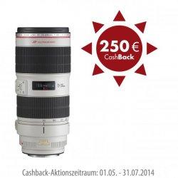 Bis zu 250€ Cashback für Canon Objektive oder Gehäuse bis 31.07.14