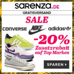 Bis zu 60% Rabatt + 20% Extra Rabatt auf ausgewählte Schuhe@ Sarenza.de