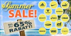 Bis zu 65 Prozent Rabatt auf Adidas, Asics, Nike,Puma usw. im Summer Sale bei Plutosport