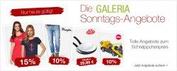 Die Galeria Kaufhof, Sonntagsangebote, nur heute tolle Schnäppchen bis 72 % Rabatt, zum Angebotspreis