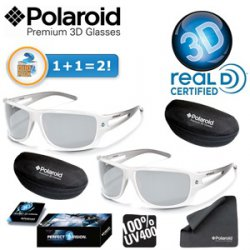 Doppelpack Polaroid Premium 3D Brillen inkl. Reinigungstuch und Etui bei ibood.com für 18,90 € inkl. Versand