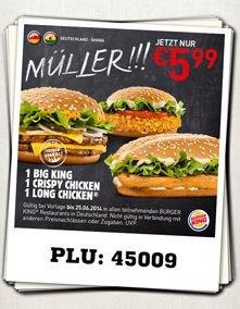 DREI Burger für 5,99€ statt 10€ @burgerking