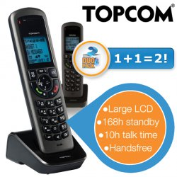 Duopack TE5851 Topcom DECT-Telefone mit Freisprechfunktion für 19,95 € zzgl. 5,95 € Versand (83,62 € Idealo) @iBOOD Extra