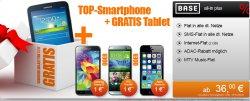 E-Plus BASE all-in plus ab 36€mtl. zb. mit  HTC One M8 + Gratis Samsung Galaxy Tab 3 @ Handyflash
