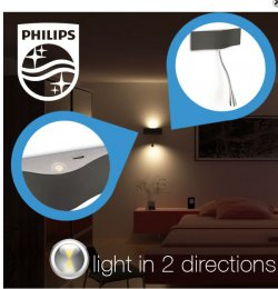 EXTRA- Deal bei ibood: Philips InStyle LED Wandleuchte 59,95 statt 119,95€