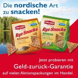 Finn Crisp Rye Snacks jetzt gratis probieren