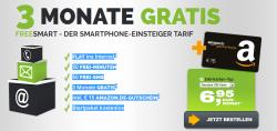 Freenet Mobile 3 Monate kostenlos + 15€ Amazon Gutschein @freeflat.freenetmobile