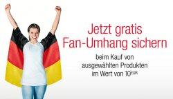 Gratis Nationalflagge als Fan-Umhang ab MBW 10€ bei amazon
