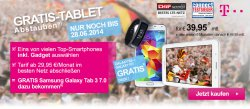 Gratis Samsung Galaxy Tab 3 zum Telekom Vertrag  ab 29,95€ mtl. @Getmobile