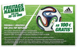 GRATIS WM-Fussball Brazuca Top-Replique ab MBW 100€ Lokal im Toom Baumarkt