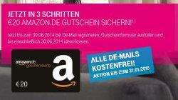Gratisaktion für  De-Mail + 10.000 Miles&More Meilen oder 20€ Amazon-Gutschein @Telekom.de