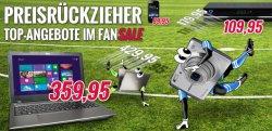 Großer MEDION Fansale z.B. MEDION AKOYA E6241 (MD98561) Notebook für 359,95 € ( 435,90 € Idealo) + gratis DVB-T Stick