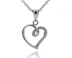 Herzanhänger aus echtem 925er Sterling Silber kostenlos bei Silvity